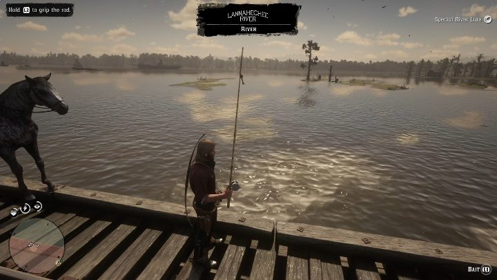 In this case, you can cast the rod only from the railway tracks - Legendary Sturgeon fish in RDR2 - Legendary fish - Red Dead Redemption 2 Guide