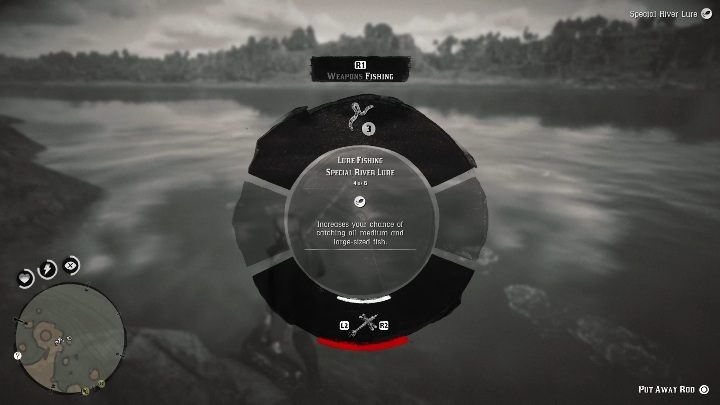 To catch the legendary black Sturgeon, you have to use the Special Lake Lure - Legendary Sturgeon fish in RDR2 - Legendary fish - Red Dead Redemption 2 Guide