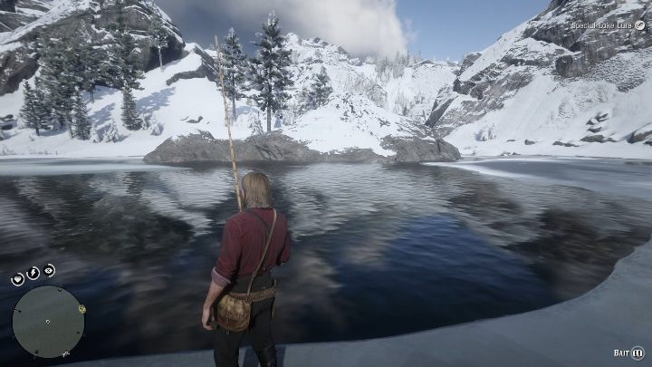 The best spot is in the middle of the lake - Legendary Sockeye Salmon fish in RDR2 - Legendary fish - Red Dead Redemption 2 Guide