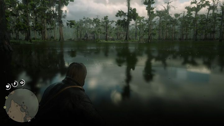 In the case of this place, it doesnt matter where you stand, but you must be mindful of all possible dangers - Legendary Longnose Gar fish in RDR2 - Legendary fish - Red Dead Redemption 2 Guide