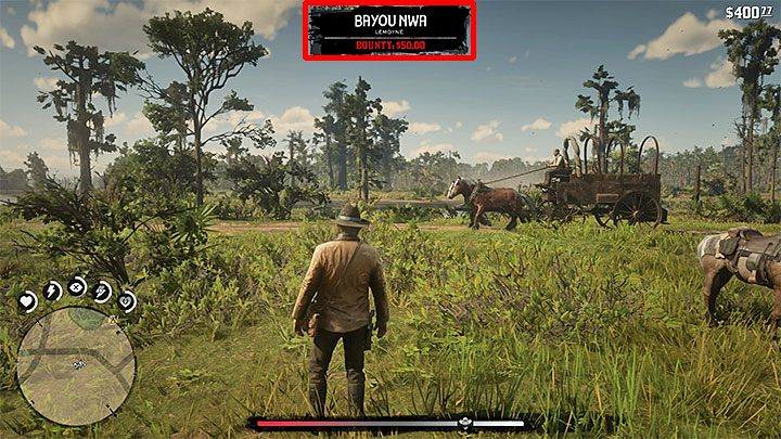 You can check the current level of the bounty for Arthur on the map of the world (the fine appears where the cursor is located) and by pressing the down button on the game pads cross - How to remove the bounty from the hero in RDR2? - FAQ - Red Dead Redemption 2 Guide