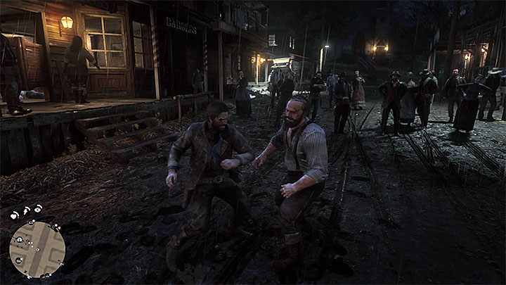 The second part of the mission takes place outside the saloon - your objective is to defeat Tommy who is a more challenging fighter - Americans At Rest - Red Dead Redemption 2 Walkthrough - Chapter 2 - Horseshoe Overlook - Red Dead Redemption 2 Guide