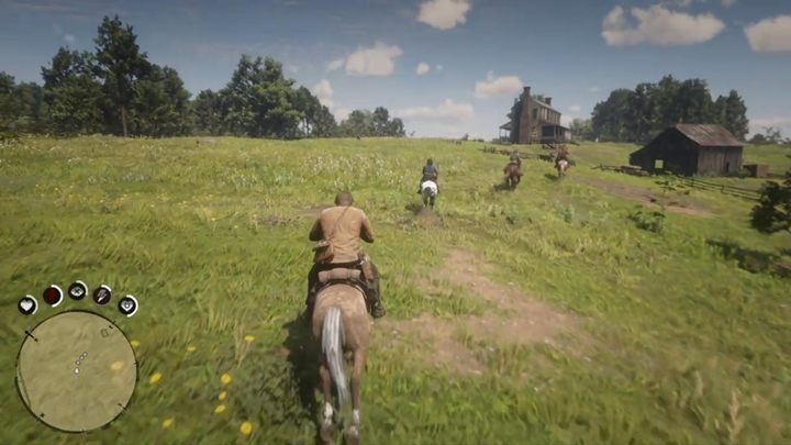 With such a dozen of enemies there is no point in shooting - jump on your horse and drive ahead - An Honest Mistake - Red Dead Redemption 2 Walkthrough - Chapter 3 - Clemens Point - Red Dead Redemption 2 Guide