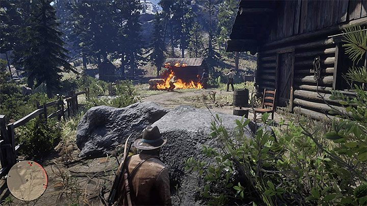 The mission marker can appear in the gang camp in the second chapter of the game, but you can also deal with it in the third chapter - Dutchs Gang Missions and Jobs | Side Quests in RDR2 - Side quests - Red Dead Redemption 2 Guide