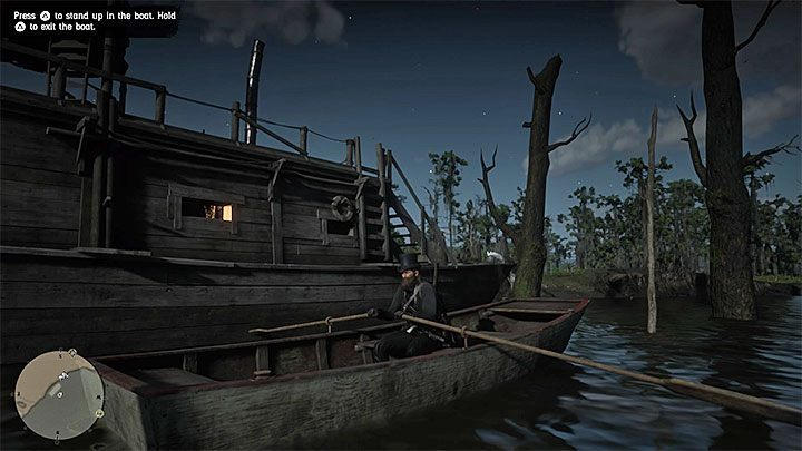 You cant move the houseboat, but the interactive boat is hidden behind it (picture above) - Where do I find the boat in RDR2? - FAQ - Red Dead Redemption 2 Guide