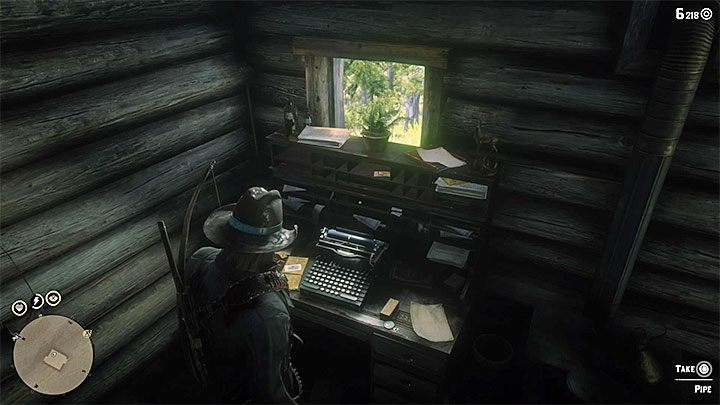 A Grizzly bear is inside the cabin - the animal will attack Arthur - Item requests for the gang members in RDR2 - Secrets and collectibles - Red Dead Redemption 2 Guide