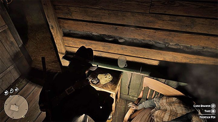 Examine the night drawer near the womans corpse - Item requests for the gang members in RDR2 - Secrets and collectibles - Red Dead Redemption 2 Guide