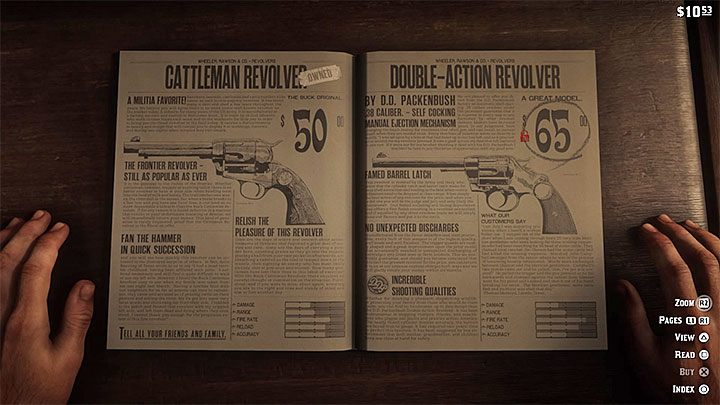 Another interesting weapon is called Double-Action Revolver - The best weapons in Red Dead Redemption 2 - Game basics - Red Dead Redemption 2 Guide