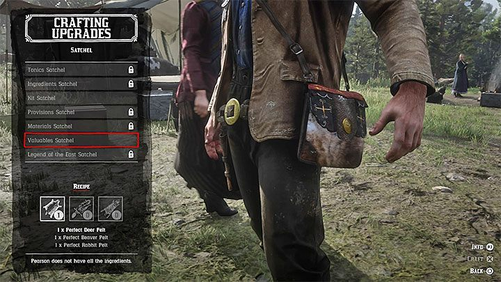 Leather working tools are required for some of Pearsons crafting projects - How to get the leather working tools needed for crafting in RDR2? - FAQ - Red Dead Redemption 2 Guide