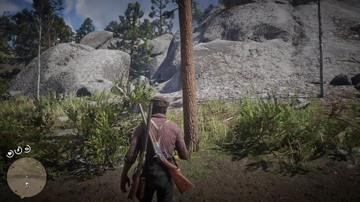 Stand in front of the mountain and look around - The Strange Statues Puzzle in Red Dead Redemption 2 - Secrets and collectibles - Red Dead Redemption 2 Guide