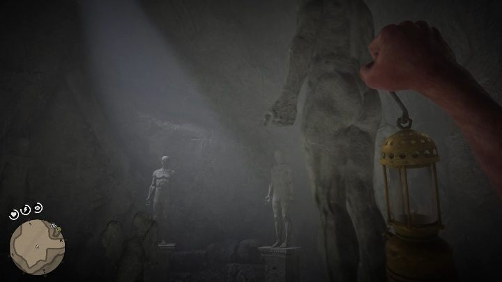 Pay close attention to the statues hands - The Strange Statues Puzzle in Red Dead Redemption 2 - Secrets and collectibles - Red Dead Redemption 2 Guide