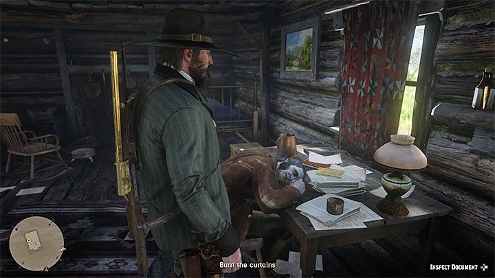 The last part of the task should be available 24 hours after you bring food to Evelyn for the third time - The American Inferno, Burnt Out in Red Dead Redemption 2 - Side quests - Red Dead Redemption 2 Guide
