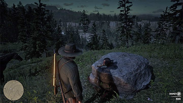 The cut off head with the last fragment of the riddle (Killer Clue Piece) lies on the neighboring smaller scale - American Dreams in Red Dead Redemption 2 - Side quests - Red Dead Redemption 2 Guide