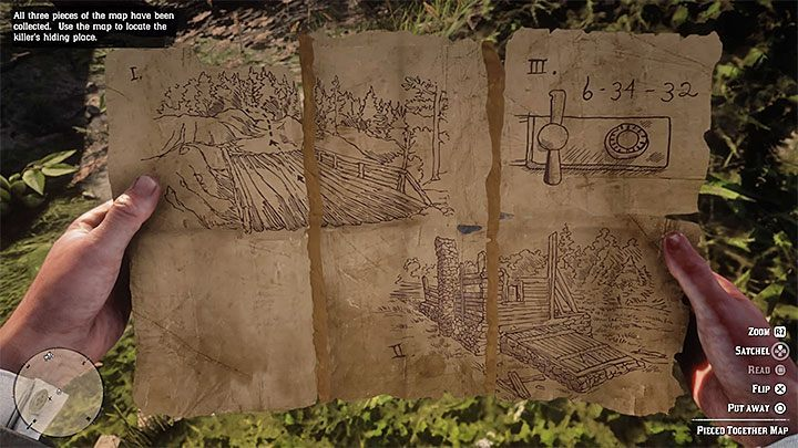 After completing all three fragments of the puzzle, you will automatically get a Pieced Together Map - American Dreams in Red Dead Redemption 2 - Side quests - Red Dead Redemption 2 Guide