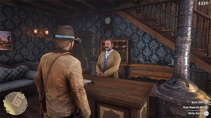 Alternatively, you can also rent a room in a hotel - How to quickly change the time of day in RDR2? - FAQ - Red Dead Redemption 2 Guide