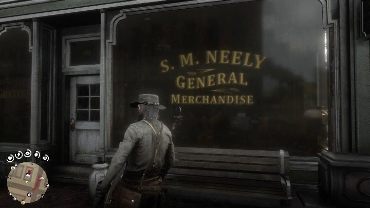 The general merchandise shop in Blackwater. - How to quickly get the collectors cards in Red Dead Redemption 2? - Collector cards - Red Dead Redemption 2 Guide