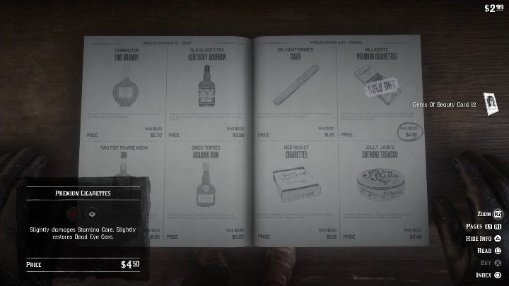 As soon as you buy the cigarettes, a card will be added to your inventory - How to quickly get the collectors cards in Red Dead Redemption 2? - Collector cards - Red Dead Redemption 2 Guide