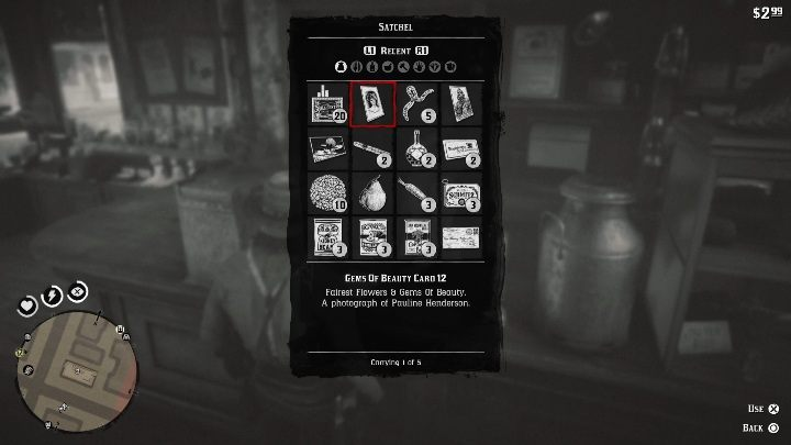The card will automatically appear in your inventory - How to quickly get the collectors cards in Red Dead Redemption 2? - Collector cards - Red Dead Redemption 2 Guide