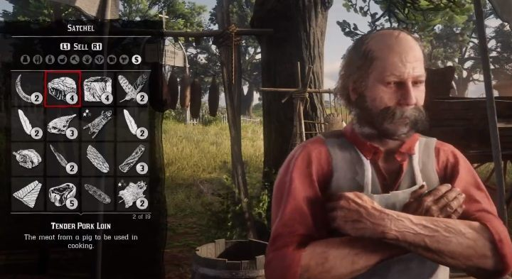 The raw materials can be donated to the camp, sold or used for crafting - How to hunt wild animals in RDR2? - FAQ - Red Dead Redemption 2 Guide