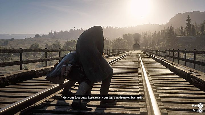 Go to the railway bridge where the Reverend Swanson is staying - Who Is Not Without Sin - Red Dead Redemption 2 Walkthrough - Chapter 2 - Horseshoe Overlook - Red Dead Redemption 2 Guide
