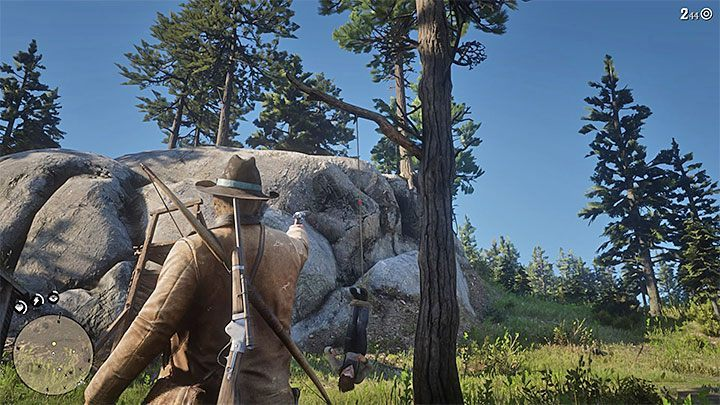 Note - Once youve completed your mission, try to leave the bounty hunters camp quickly - The First Shall Be Last - Red Dead Redemption 2 Walkthrough - Chapter 2 - Horseshoe Overlook - Red Dead Redemption 2 Guide