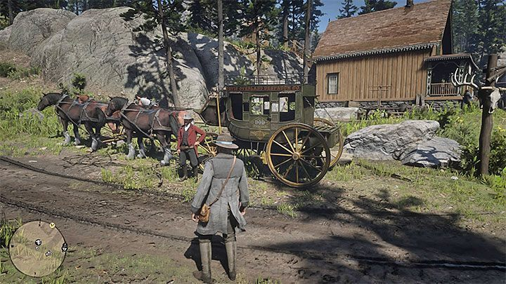 Red Dead Redemption 2 also allows you to fast travel by using a stagecoach - How to use fast travel in Red Dead Redemption 2? - FAQ - Red Dead Redemption 2 Guide