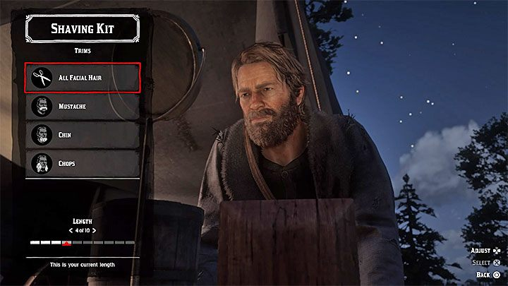 Shaving your beard is easier - the gang hideout has a special booth for this - How to cut your hair in Red Dead Redemption 2? - FAQ - Red Dead Redemption 2 Guide