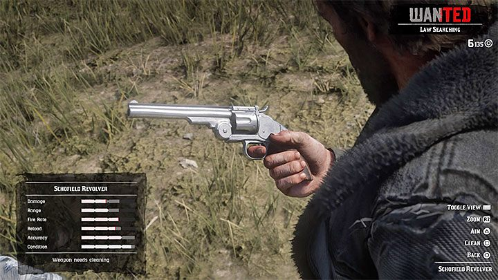To fix a weapon in RDR 2 you need to clean it by removing dirt or rust - How to repair weapons in Red Dead Redemption 2? - FAQ - Red Dead Redemption 2 Guide