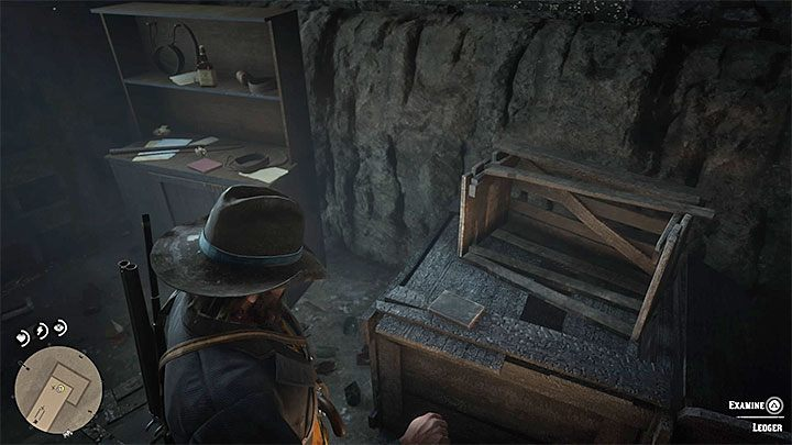 Find the Ledger presented in the picture above - The Iniquities of History | Side Quests in RDR2 - Side quests - Red Dead Redemption 2 Guide