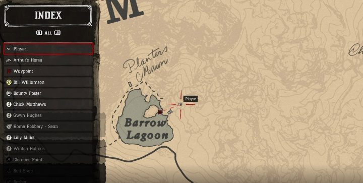 The second map will direct you to Barrow Lagoon, over Grizzlies West - High Stakes - Treasure Maps in Red Dead Redemption 2 - Treasure Maps - Red Dead Redemption 2 Guide
