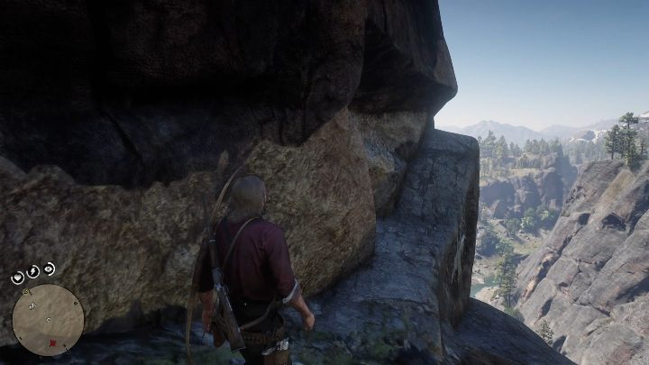 On your way there will be a larger rock, go over it to the other side - High Stakes - Treasure Maps in Red Dead Redemption 2 - Treasure Maps - Red Dead Redemption 2 Guide