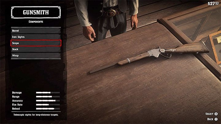 1 - How to get a scope for your rifle in RDR2? - FAQ - Red Dead Redemption 2 Guide