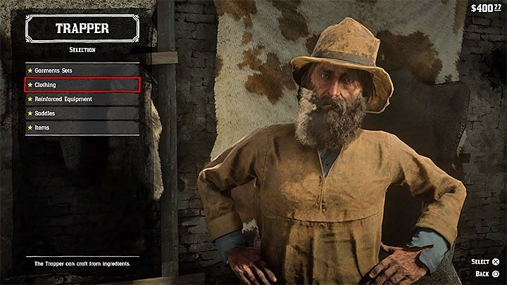 The main purpose of a visit to the Trapper is the option to sell the skins of legendary animals, e - Where do I find the trapper and how do I sell legendary animals skins? - FAQ - Red Dead Redemption 2 Guide