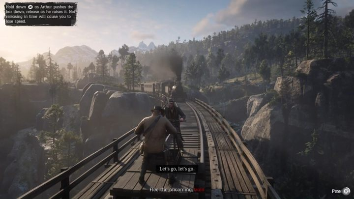 Get on the handcar - The Bridge to Nowhere - Red Dead Redemption 2 Walkthrough - Chapter 6 - Beaver Hollow - Red Dead Redemption 2 Guide