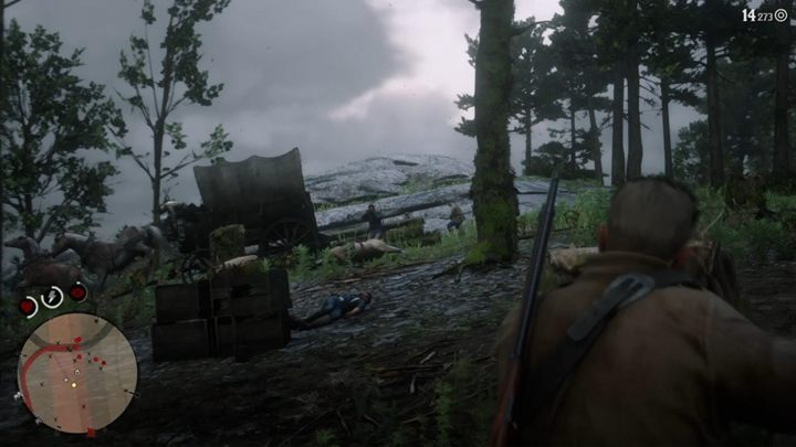 Dismount your horse when captain Monroe falls - use covers and fight with enemies - The Fine Art of Conversation - Red Dead Redemption 2 Walkthrough - Chapter 6 - Beaver Hollow - Red Dead Redemption 2 Guide