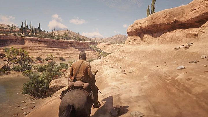 Find the small valley presented in the picture - How to reach Mexico in RDR2? - FAQ - Red Dead Redemption 2 Guide