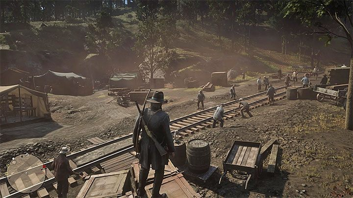 This location is a railroad construction site - Unique locations with small side quests in RDR2 - Side quests - Red Dead Redemption 2 Guide