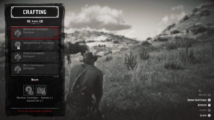 Dynamite Arrow - Создание и создание рецептов в Red Dead Redemption 2 - Основы игры - Red Dead Redemption 2 Guide