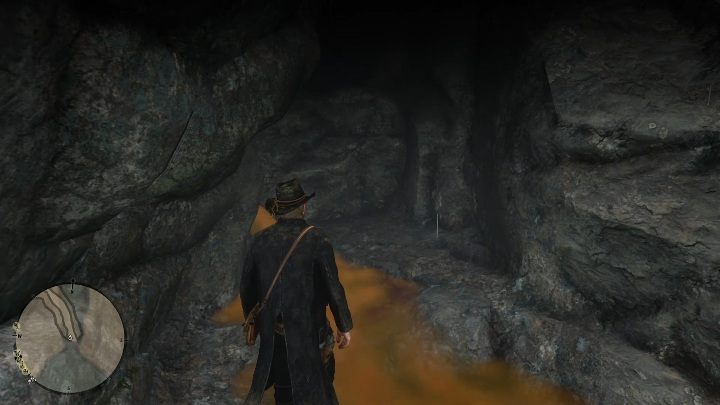 The cave is hidden beneath a waterfall - The Poisonous Trail Treasure Hunt in Red Dead Redemption 2 - Secrets and collectibles - Red Dead Redemption 2 Guide