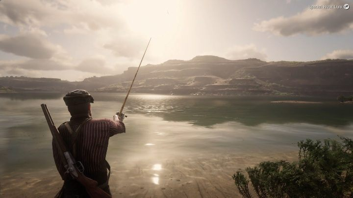 Make a few steps into the water - Legendary Largemouth Bass in RDR2 - Legendary fish - Red Dead Redemption 2 Guide
