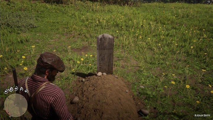 The grave is in the grass, on an open field - Graves in Red Dead Redemption 2 - Secrets and collectibles - Red Dead Redemption 2 Guide