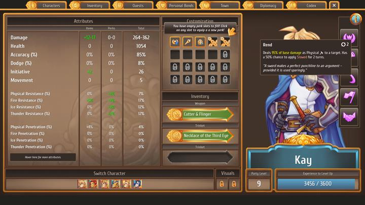 In the top-right corner, there�s an �i� icon - The character tab and most important stats - Gameplay Basics - Regalia: Of Man and Monarchs Game Guide