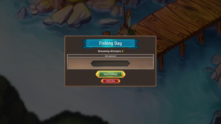 Fishing takes one game � you have as many as six chances to catch something. - Fishing - City Management - Regalia: Of Man and Monarchs Game Guide