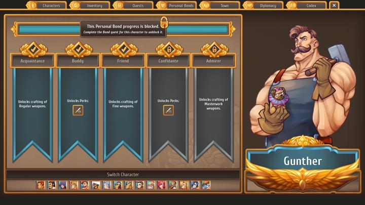 Gunther s the local blacksmith, who will be crafting better weapons for you - Which citizens to enter relationships with | Citizens - Citizens - Regalia: Of Man and Monarchs Game Guide