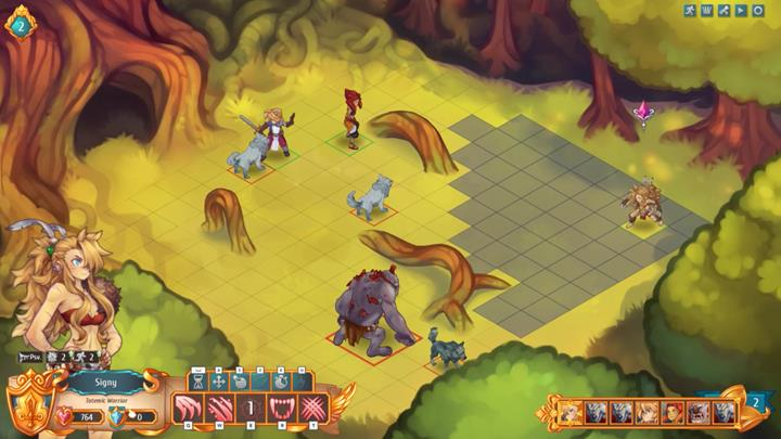 Position your characters at a long distance from each other - have two of them fight with wolves, and have Signy take position closer to the troll - Example battles | Dungeons and combat - Dungeons and combat - Regalia: Of Man and Monarchs Game Guide