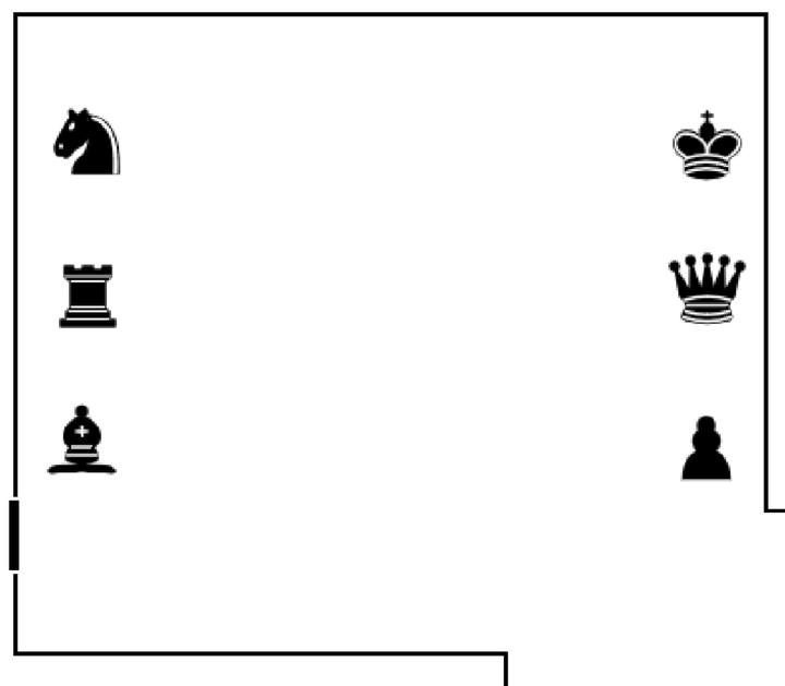 How to solve the chess pieces puzzle? | Sewers in Resident