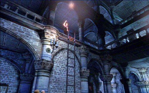 Now you have to help your companion to climb up and wait until she drops down the ladder - Chapter 2 - The Cathedral - Leon's campaign - Resident Evil 6 - Game Guide and Walkthrough