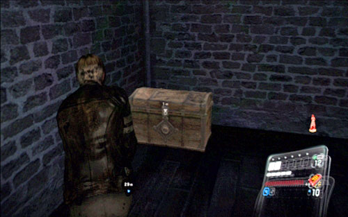 It is hidden inside the chest in a nearby room - Chapter 2 - The Cathedral - Leon's campaign - Resident Evil 6 - Game Guide and Walkthrough