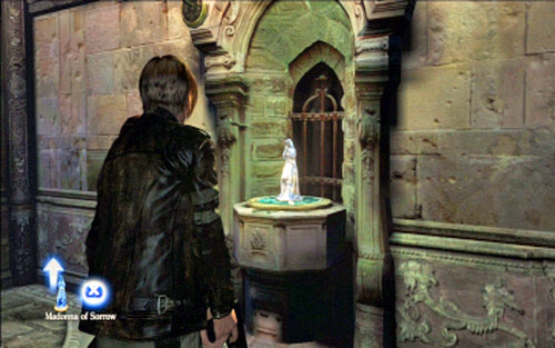 Behind the next door you'll find a blue statue - take it - Chapter 2 - The Cathedral - Leon's campaign - Resident Evil 6 - Game Guide and Walkthrough