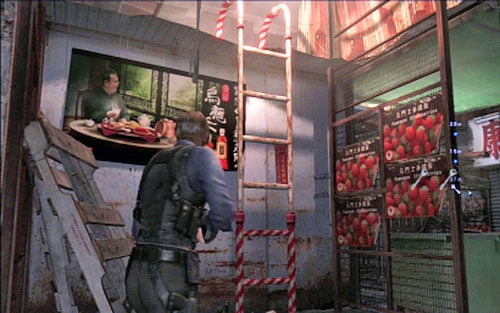 In order to get the third one, you have to climb up the nearby ladder - Chapter 4 - The Outdoor Market - Leon's campaign - Resident Evil 6 - Game Guide and Walkthrough